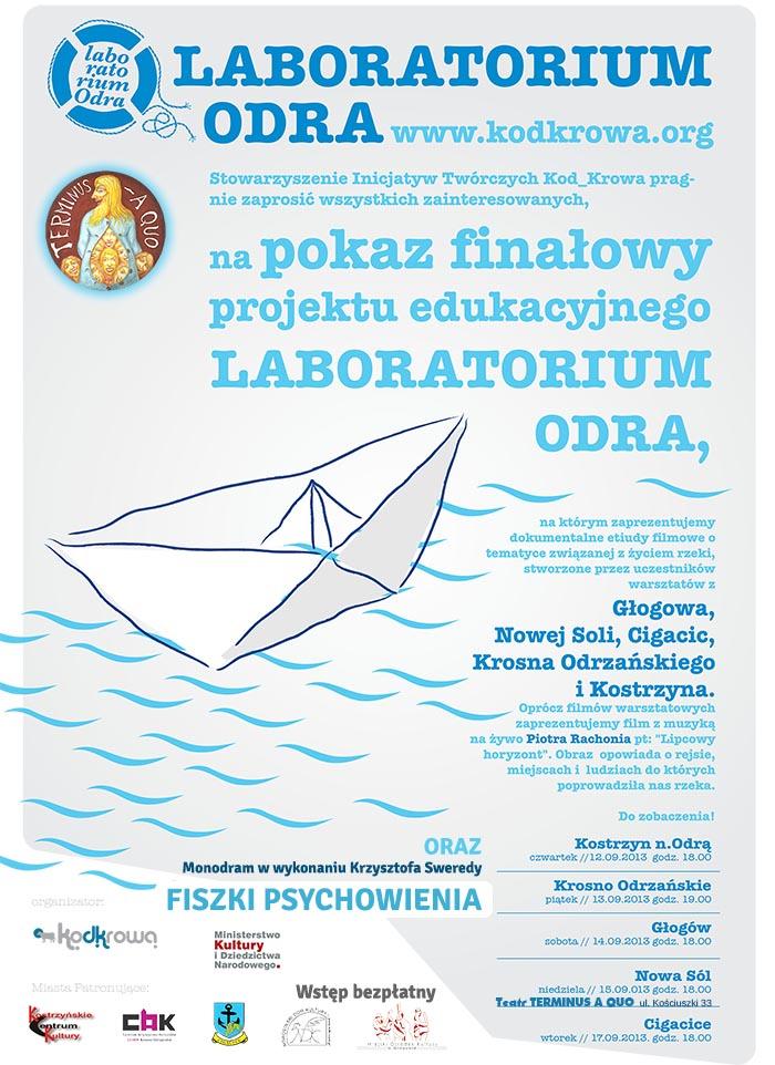 Plakat Laboratorium Odra