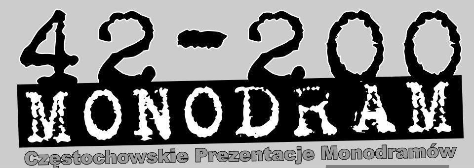 Festiwal Monodramów w Częstochowie - logo