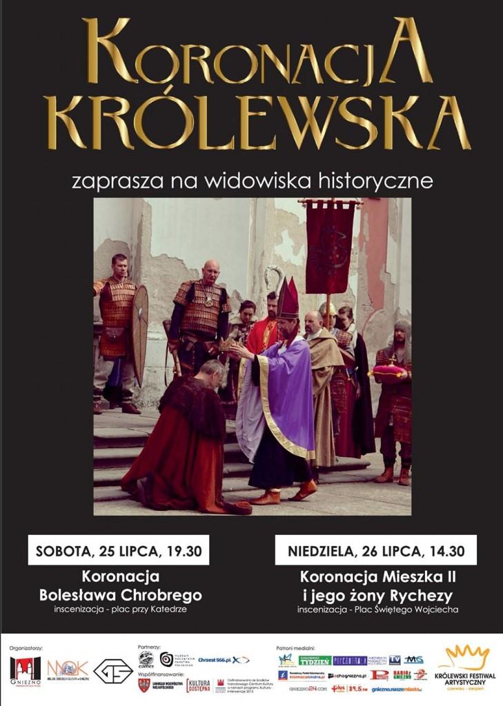Plakat Widowisko historyczne koronacja