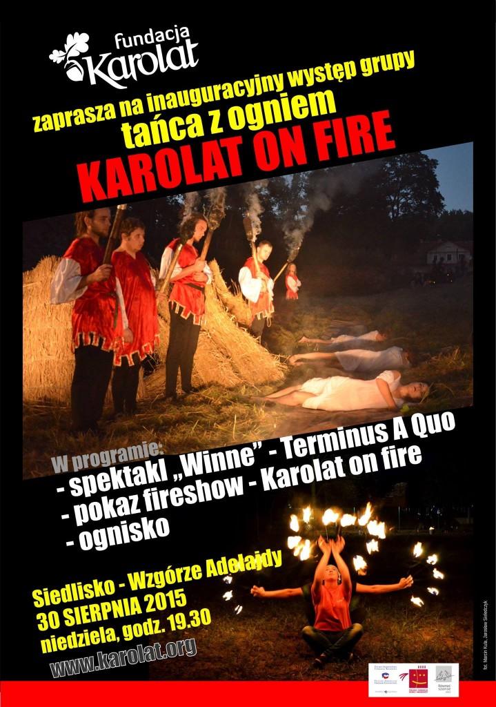 Karolat on fire - teatr ognia w Siedlisku