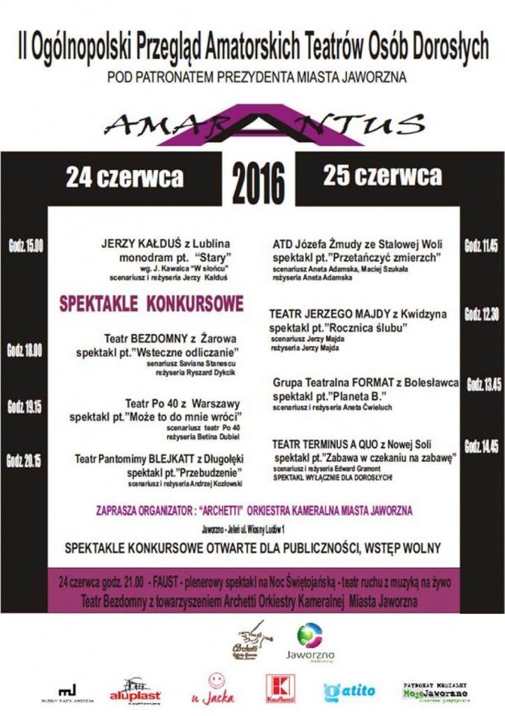 Amarantus Jaworzno 2016