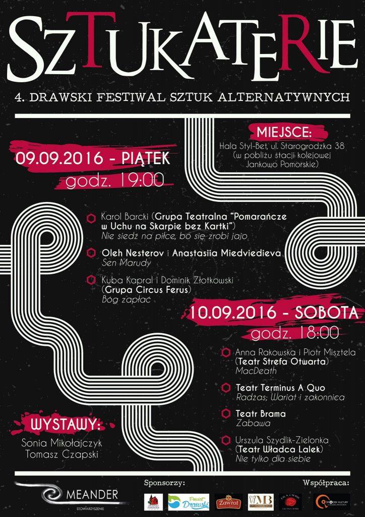 Sztukaterie 2016 Drawsko Pomorskie, PROGRAM